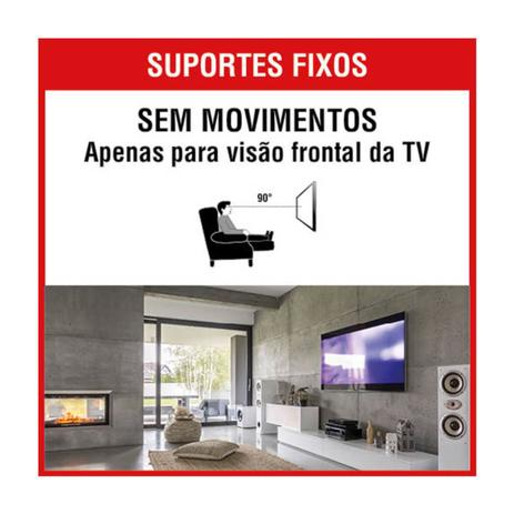"Suporte Fixo Universal TV LED/LCD 10""/71""Brasforma SBRUB750"
