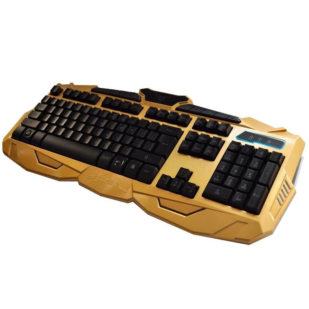 Teclado e Mouse Gamer Usb com Teclas Iluminadas V-100