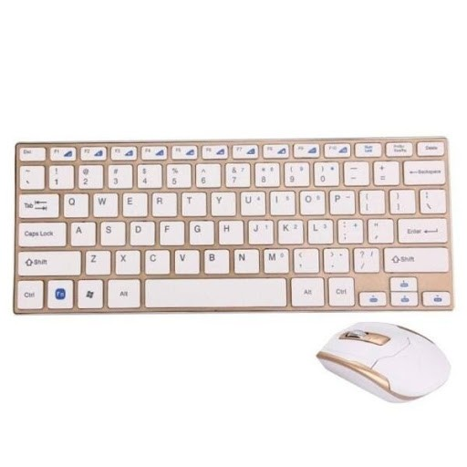 Teclado e Mouse Wireless HK-3910 2.4GHz 1600DPI Branco - Xtrad