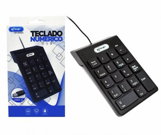 Teclado Numérico USB - Ideal para Notebooks - Knup KP2003A