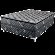 Colors Line Black Silver 1.38 x 1.88 x 0.60 com Vibromassagem e Base Box