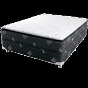 Colors Line Black White 1.58 x 1.98 x 0.30 com Vibromassagem e Base Box (Queen)