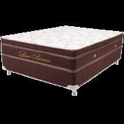 Exclusive  - Colors Line Brown White 2.00 X 2.00  x 0.60 com Vibromassagem e Base Box ( Super King especial)