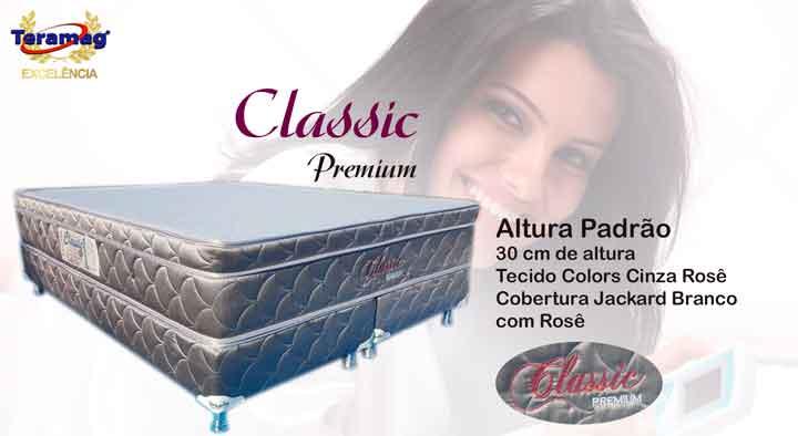 Classic Premium 1.58 x 1.88 x 0.60 com Vibromassagem e Base Box (Queen)