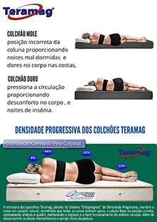 Colchão Teramag Colors casal 1.58 x 1.98 x 0.25 sem Massagem cor  cinza