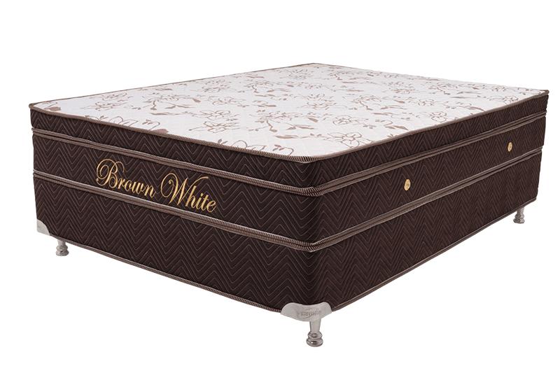 Colchão Teramag Colors Marrom King Size 1.93 x 2.03 x 0.60 com Vibro Massagem e Box