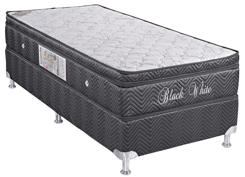 Colors Line Black White 0.78 x 1.88 x 0.60 com Vibromassagem e Base Box