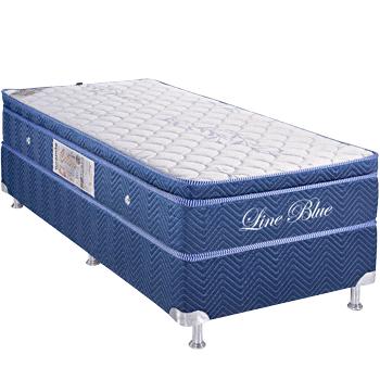 Colors Line Blue White 0.88 x 1.88 x 0.60 com Vibromassagem e Base Box