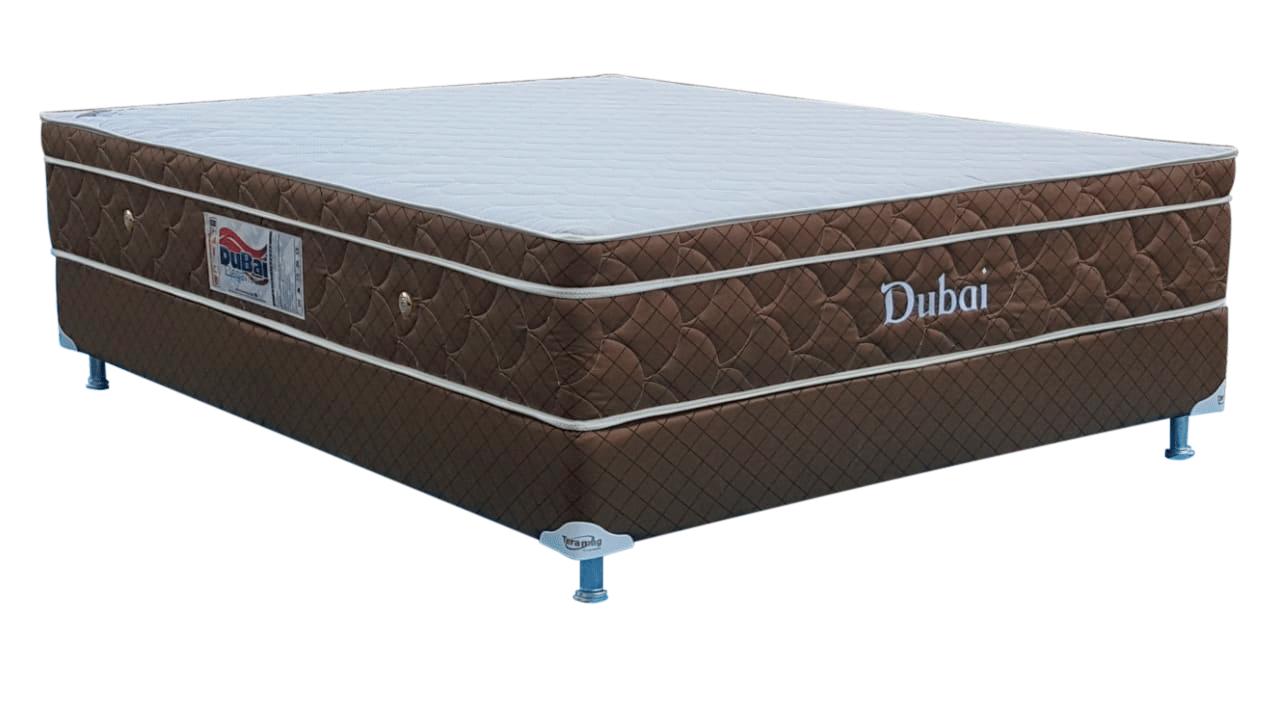 Colchão Dubai casal Convencional 1,38 x 1,88 x 25 com Base Box