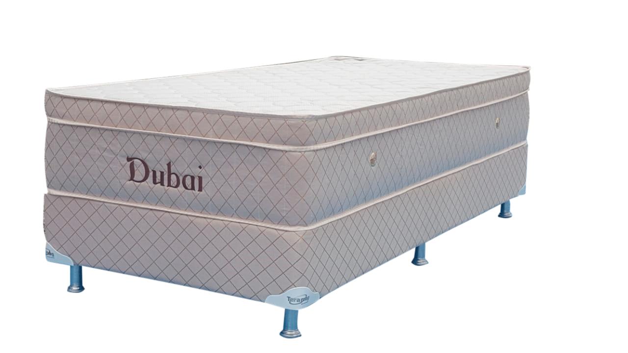 Colchão Dubai  Molas Pocket  0,88 x 1,88 x 55 com Base Box