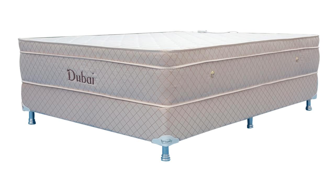 Colchão Dubai  Molas Pocket  1,38 x 1,88 x 55 com Box