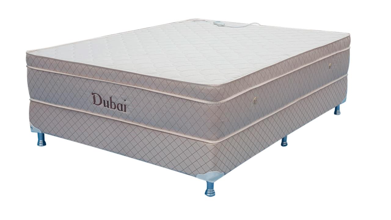 Colchão Dubai casal Convencional 1,63 x 2,03 x 25 com Base Box