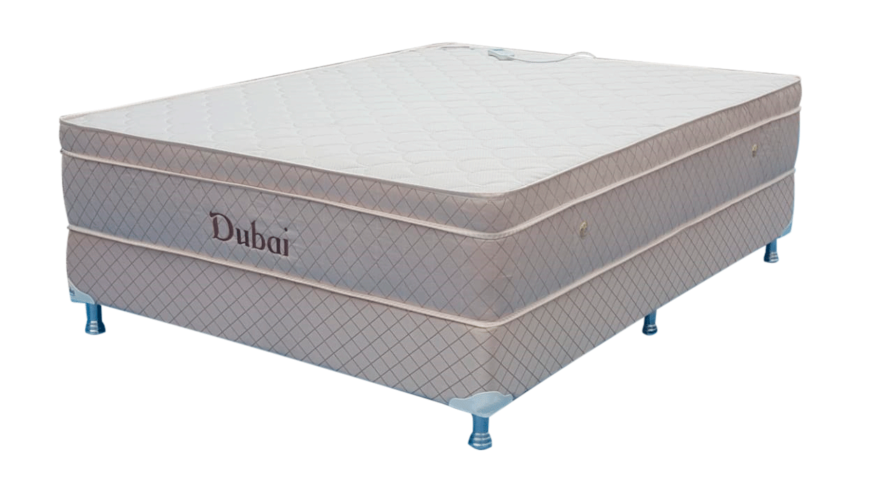 Colchão Dubai Convencional Super King 1,93 X 2,03 X 25 Com Base Box