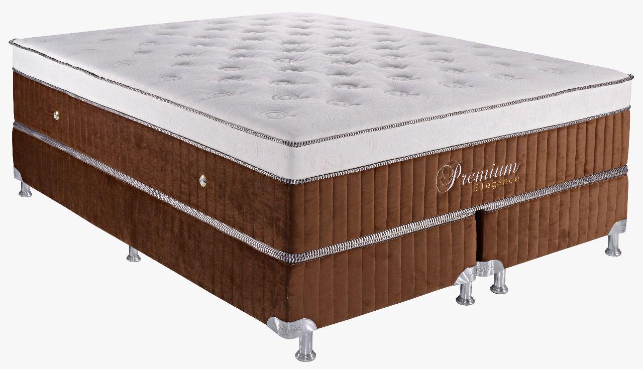 Colchão Teramag Elegance Casal Padrão 1.38 x 1.88 x 0.65 com Vibromassagem e Box