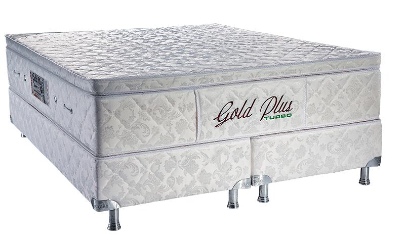 Gold plus Casal King Size Padrão 1.93 x 2.03 x 65 cm com vibro massagem e base Box