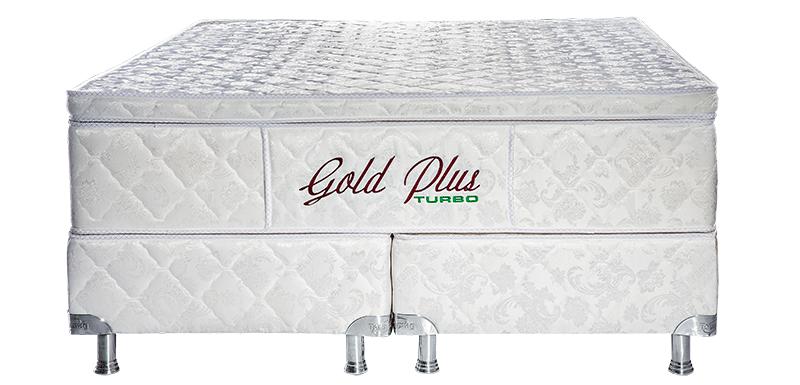 Gold plus Casal Padrão 1.38 x 1.88 x 65 cm com vibro massagem e base Box