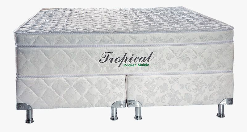 Tropical Molejo 1.63 x 2.03 x 0.53 com Vibromassagem e Base Box (King)