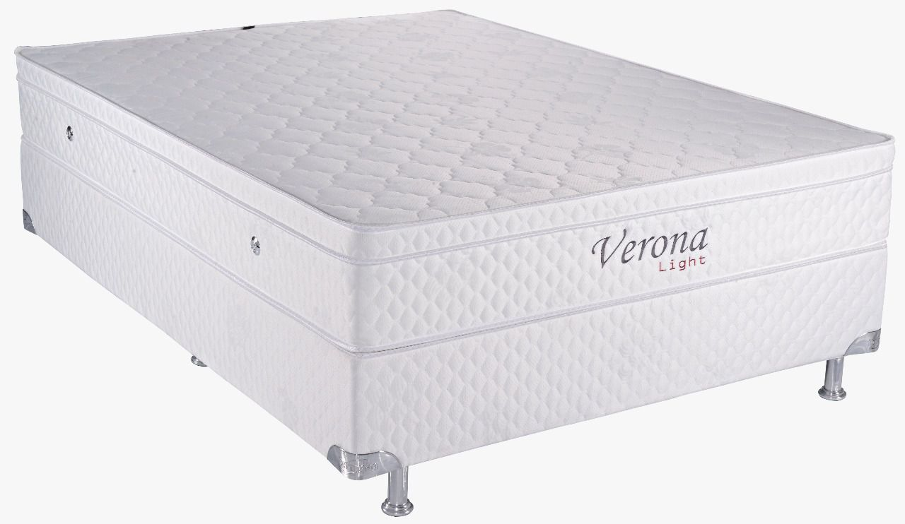 Verona Light 1.58 x 1.98 x 0.53 com Vibromassagem e Base Box (Queen)