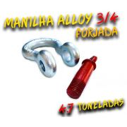 Manilha Curva Alloy 3/4 Forjada - 4.7 Tons. - Anilha / Troller / 100% Coforja
