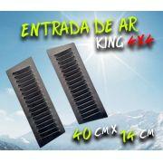 Par Entrada De Ar Para Capô Em Alumínio - Pintura Eletrostática - 40cm x 14cm x 1.2mm
