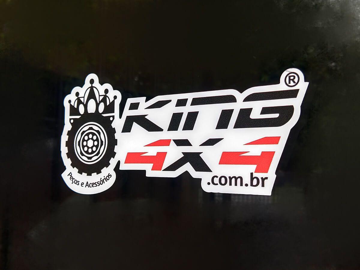 Adesivo KING 4x4 // Fundo Branco