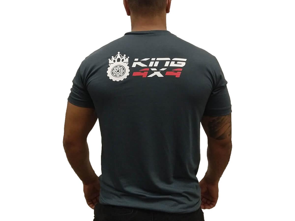 Camiseta Cinza King 4x4 - Manga Curta