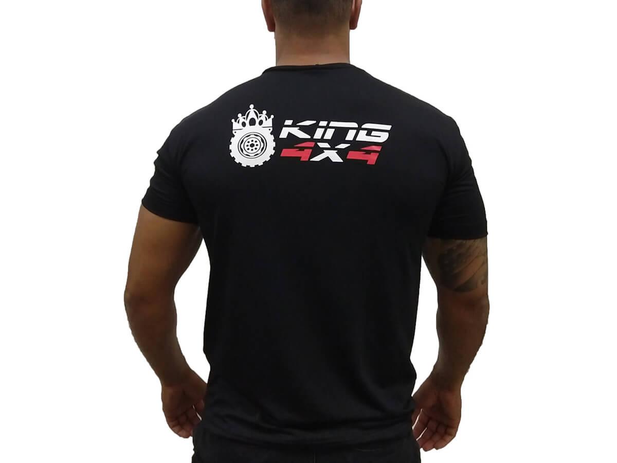 Camiseta Preta King 4x4 - Manga Curta