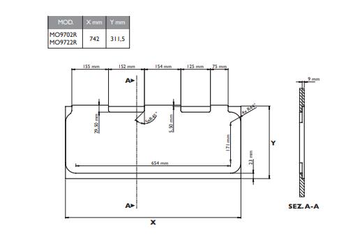 Fogão Combinado Dometic MO9722R