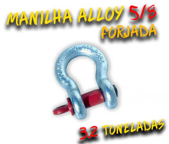Manilha Curva Alloy 5/8 Forjada - 3.2 Tons. - Anilha / Jimny / 100% Coforja
