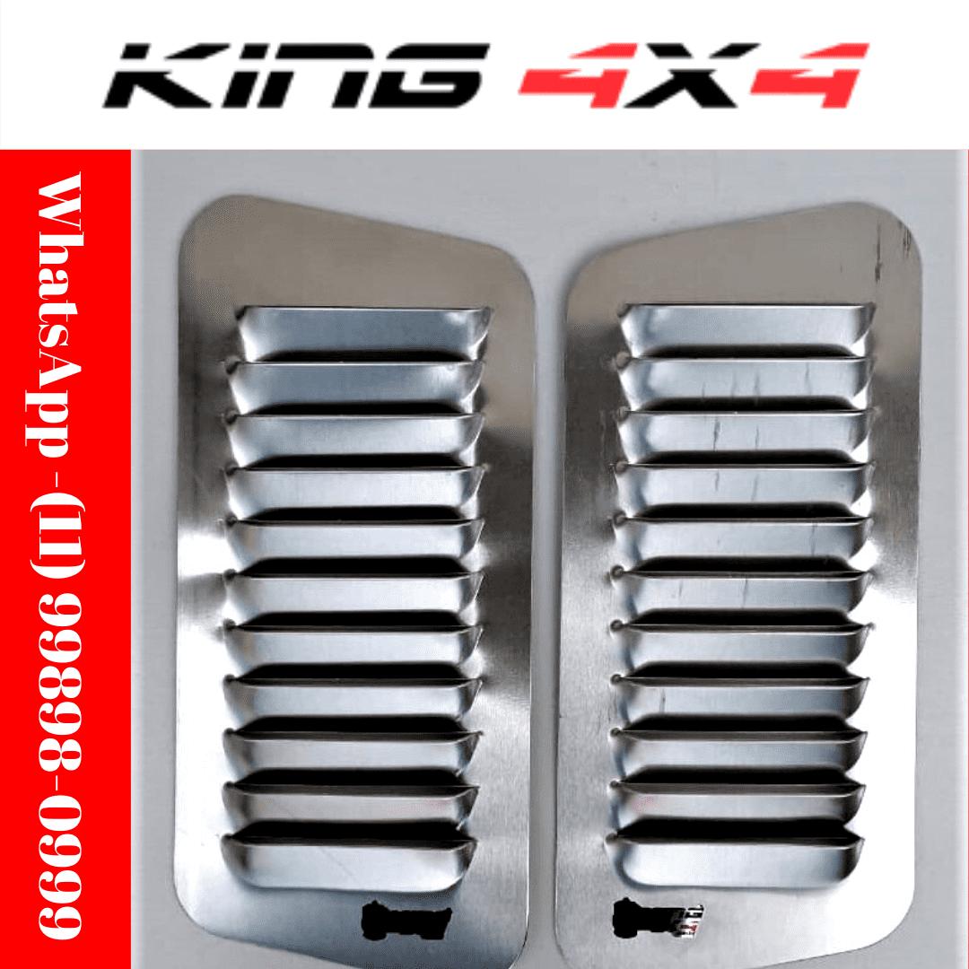 Par Entrada De Ar Para Capô em Alumínio | Alumínio - 30 cm x 14 cm