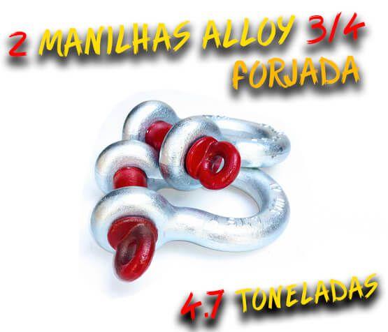 Par Manilha Curva Alloy 3/4 Forjada - 4.7 Tons. - Anilha / Troller / 100% Coforja