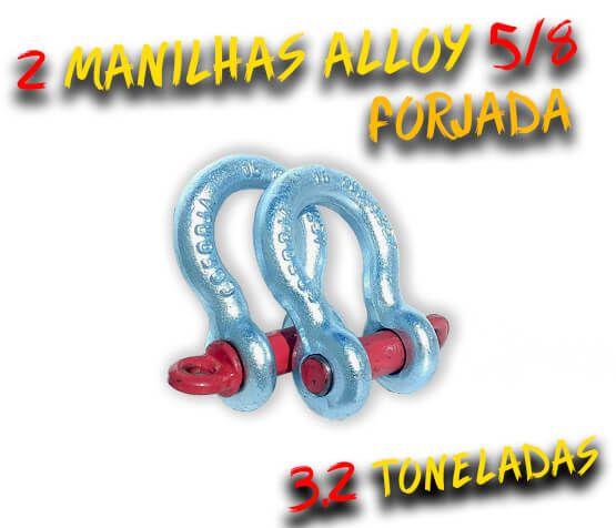 Par Manilha Curva Alloy 5/8 Forjada - 3.2 Tons. Anilha / Jimny