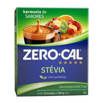 Adoçante Stévia em Pó (50 sachês) -  Zero Cal