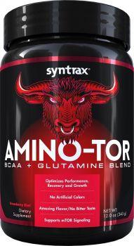 Amino-Tor - Morango  (BCAA e Glutamina) - (340g) - Syntrax