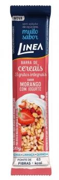 Barra De Cereais 3 Grãos Integrais Sabor Morango Com Iogurte (20g) - Linea