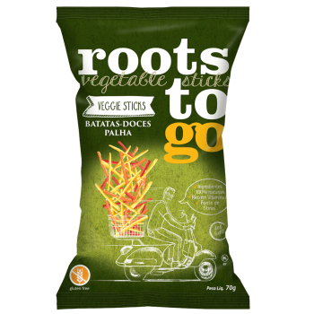 Batatas-Doces Palha - 70g - Roots to go