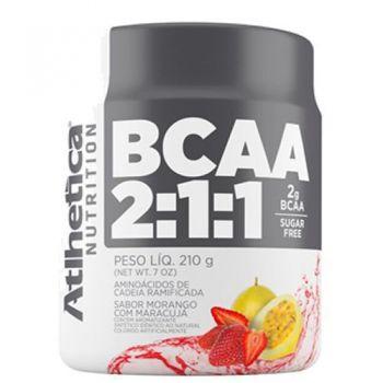 BCAA 2:1:1 - 210g Morango c/ Maracujá - Atlhetica Nutrition