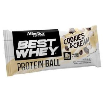 Best Whey Protein Ball Cookies N Cream (50g) - Atlhetica Nutrition