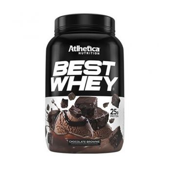 BEST WHEY Sabor Brownie Chocolate (900g) - Atlhetica Nutrition