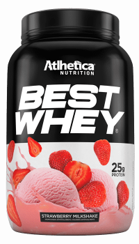 BEST WHEY Sabor Morango (900g) - Atlhetica Nutrition