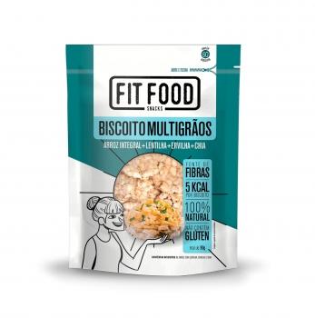 Biscoito de Arroz Com Lentilha, Ervilha e Chia (90g) - Fit Food