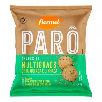 Parô Snacks de Multigrãos Chia, Quinoa e Linhaça (40g) - Flormel