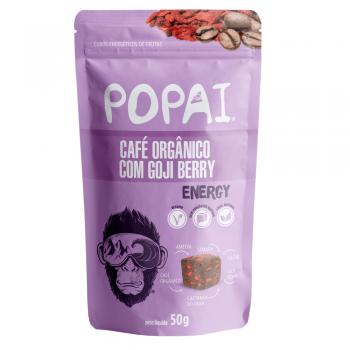Cubo Energético Sabor Café Orgânico com Goji Berry (60g) - Popai