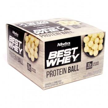 Caixa 12 unidades Best Whey Protein Ball Chocolate Branco (50g) - Atlhetica Nutrition