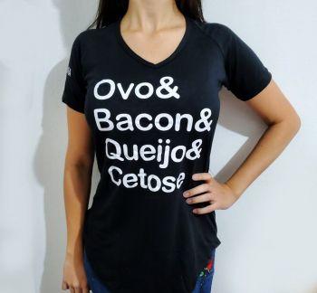 Camiseta Long Bacon Feminina