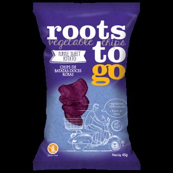 Chips de Batatas-Doces Roxas Batata - 45g - Roots to go