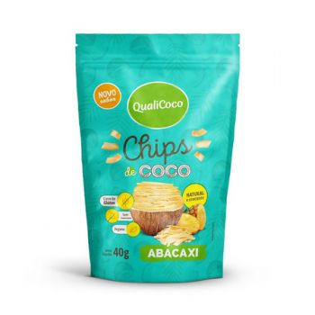 Chips de Coco Abacaxi 40g - Qualicoco