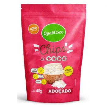 Chips De Coco Adoçado 40g  - QualiCôco