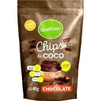Chips de Coco - Chocolate (40g) QualiCoco