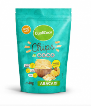 Chips de Coco Sabor Abacaxi (40g) QualiCoco